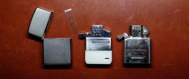 Zippo Lighter Case, Butane Insert and Original Lighter insert