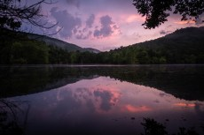 Stormy sunset - Piney Creek Wilderness - Day One. Copyright © 2020 Gary Allman, all rights reserved.