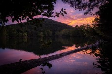 Sunset at Piney Creek Wilderness. Piney Creek Wilderness - Day Two. Copyright © 2020 Gary Allman, all rights reserved.