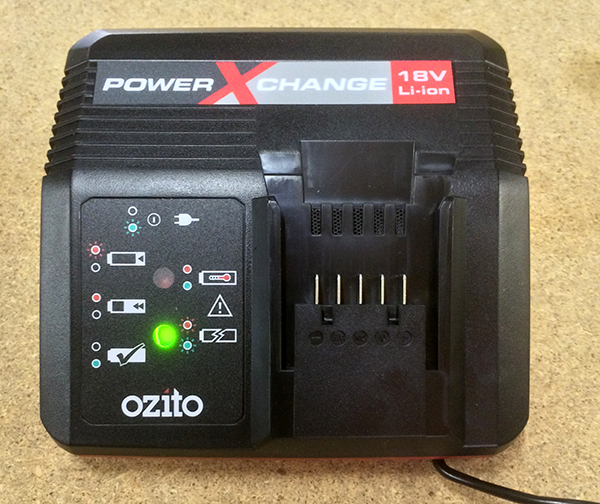 ozito power x change fast charger
