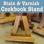 Timber Cookbook Stand Stain & Varnish