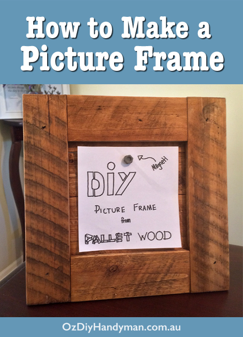 Diy picture frame from pallet wood diy picture frame pallet wood solutioingenieria