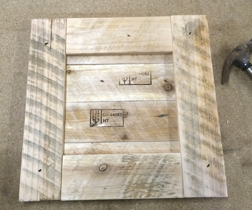 pallet picture frame front