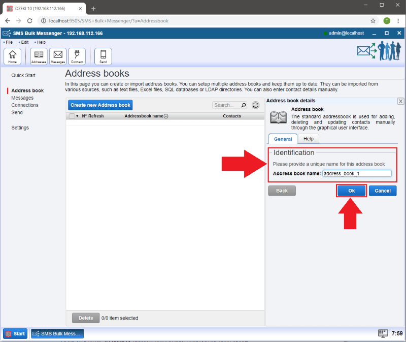 OZEKI - How to create a Standard Address book in Ozeki Bulk Messenger software