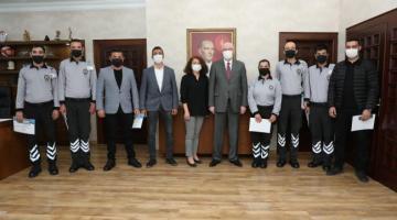 Pandemide özveri ile çalışan özel güvenlik görevlilerine teşekkür edildi