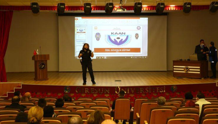 Giresun'da Genel Kolluk-Özel Güvenlik İşbirliği ve Entegrasyonu (KAAN) eğitimi verildi