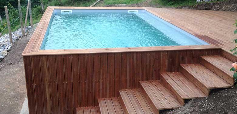 piscine hors sol en bois choisir sa