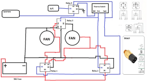 Thermofan Wiring Diagram  Auto Electrics  OzFalcon  Ford Falcon Owners Club