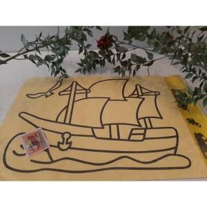 Büyük Boy Kum Boyama Aktivite Seti - Gemi