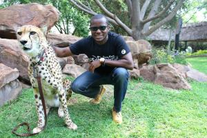 Chilling with a Cheetah at a Farm in Pretoria