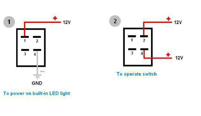 lighted rocker switch wiring diagram viper 5701 how to wire 4 pin led
