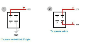 How to Wire 4 Pin LED Switch | 4 Pin Led Switch Wiring