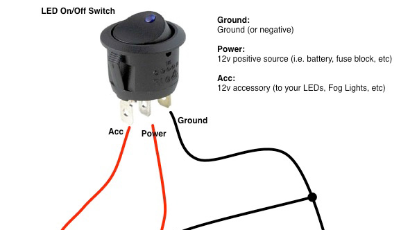 12v on off toggle switch wiring diagram bazooka bass tube rocker all data how to wire switches oznium led lights 6 pin