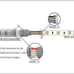 Led Wiring Diagram 9v 3 Phase 6 Lead Motor Best Mini Inline Controller Rgb Color Leds And Strip
