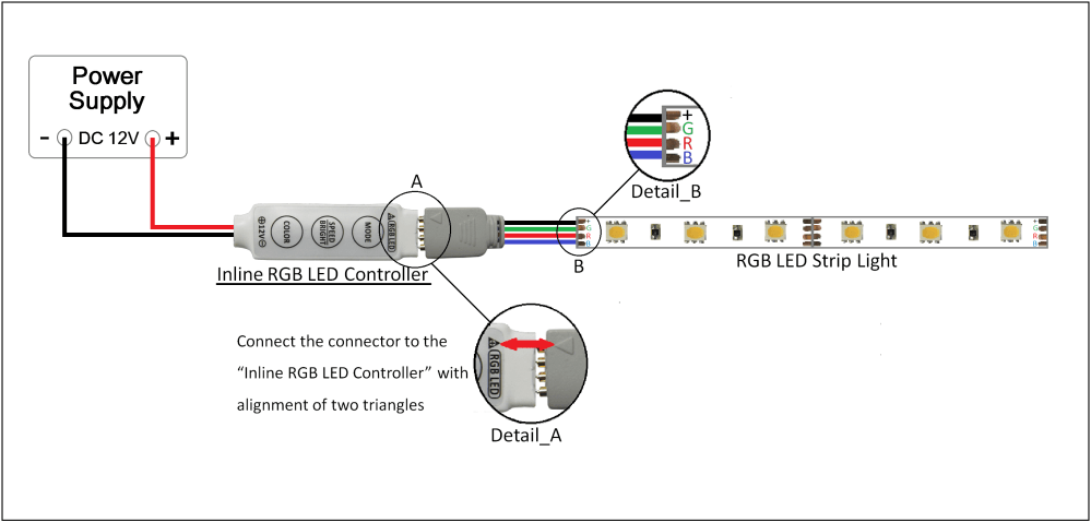 medium resolution of best mini inline led controller rgb color leds strip lights wiring rgb led arduino length