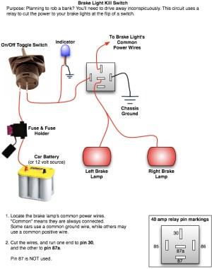 Rear Brake Light Kill Switch