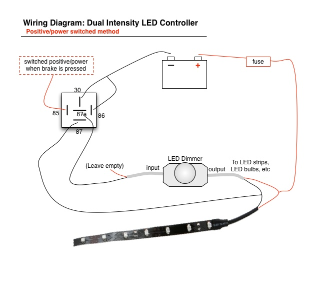 how to wire tail light on motorcycle  led brake lights