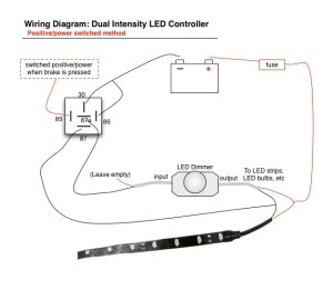 Wiring Led Brake Lights  Running Light Controller Diagram