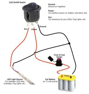 OnOff Switch & LED Rocker Switch Wiring Diagrams | Oznium