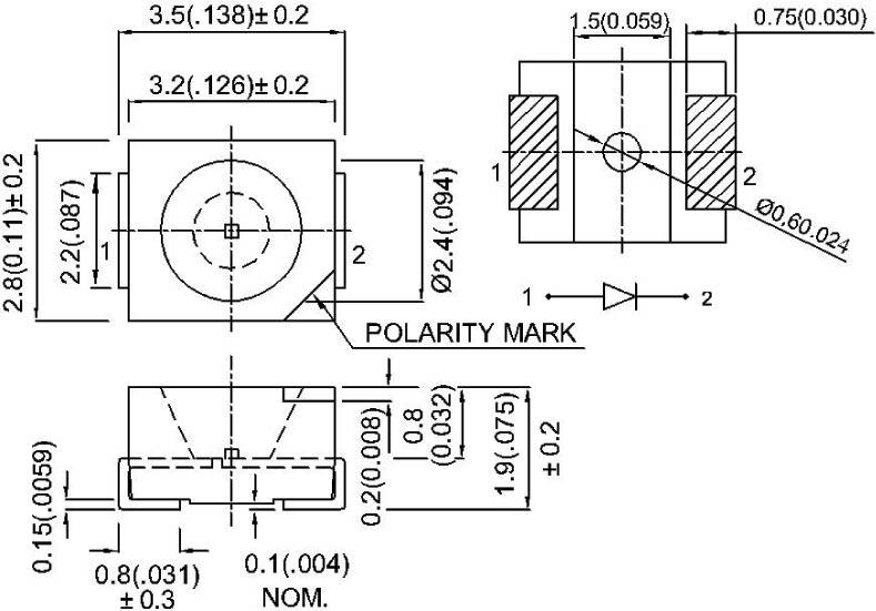 3528 Surface Mount PLCC-2 SMT LEDs