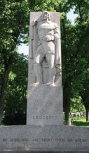 crockett-statue