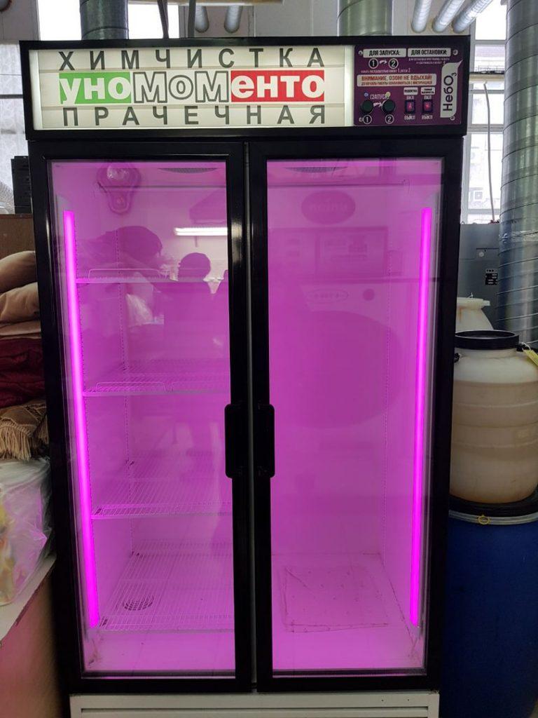 озоновый шкаф в химчистке УноМоМенто