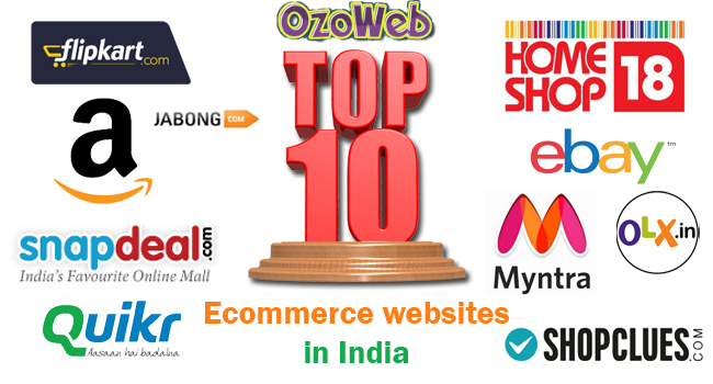 List of Top 10 Online Shopping eCommerce Websites in India