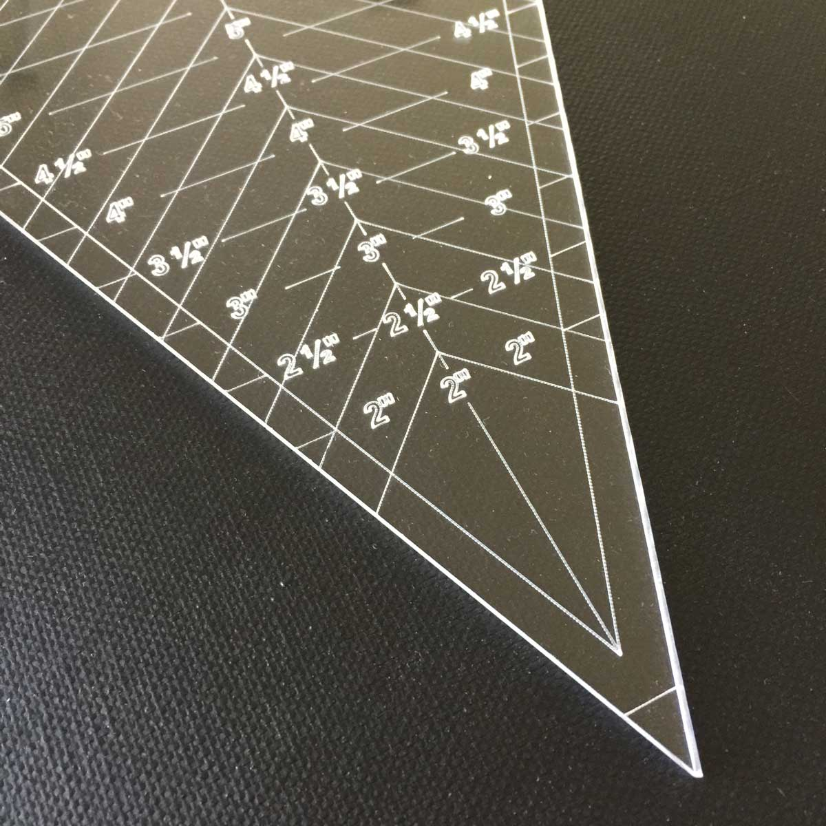 45 Degree Triangle 8 Tall Ruler By