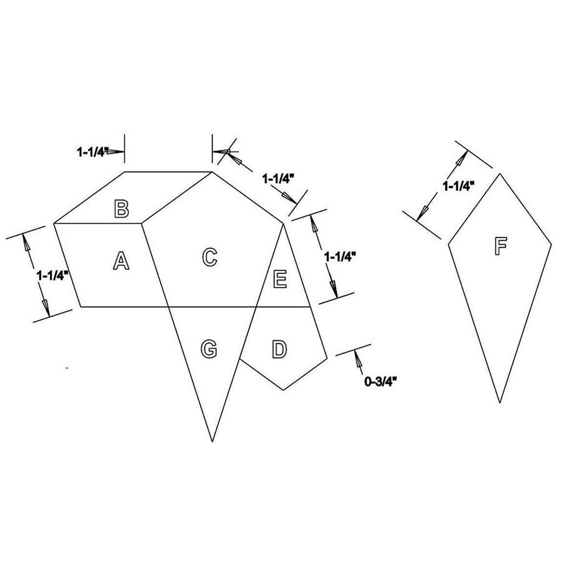 La Tarantella Template Set from Millefiori Quilts 3