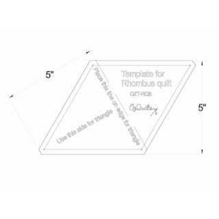 Rhombus Baby Block 3D Cube Template fits 10