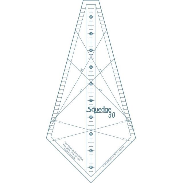 Squedge 30 Degree Ruler by Cheryl Phillips by Phillips