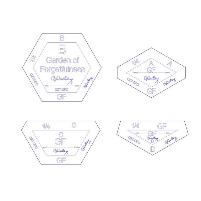 The Garden of Forgetfulness Template Set from Millefiori