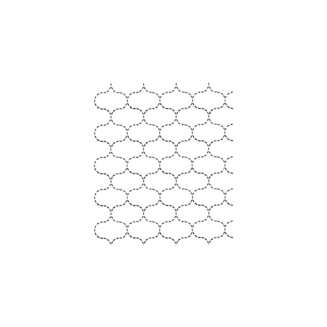 Full Line Stencil Sashiko Stitch Fish Net