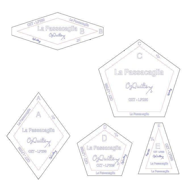 La Passacaglia Template Set from Millefiori Quilts