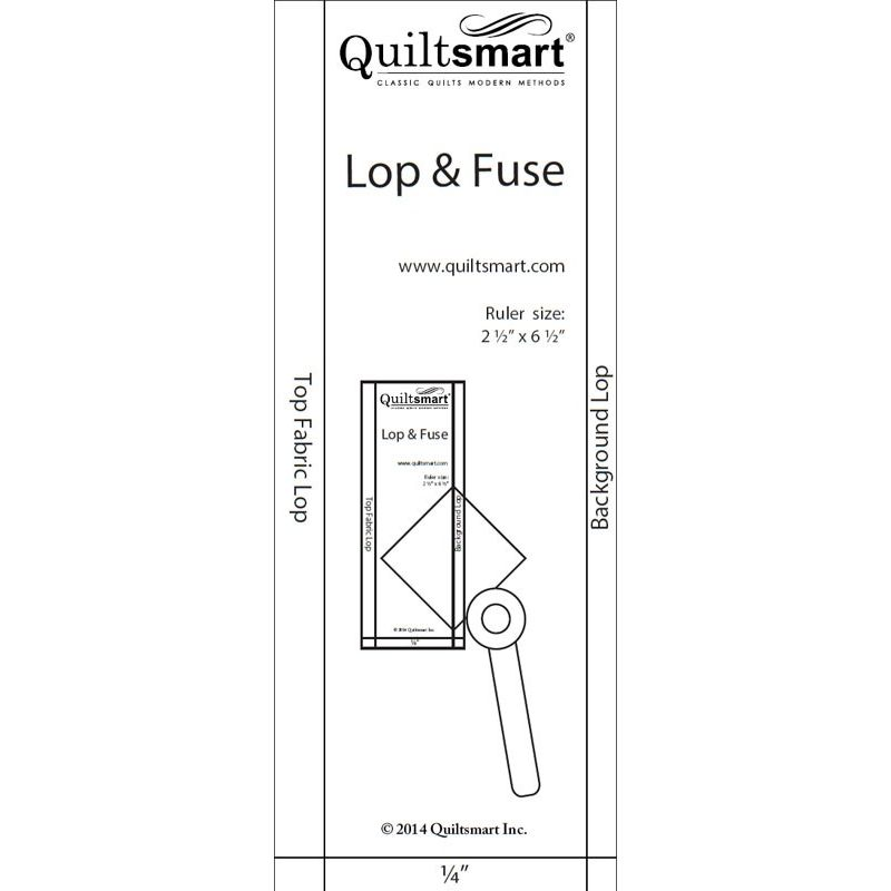 Quiltsmart Lop & Fuse Acrylic Template for use with Bear