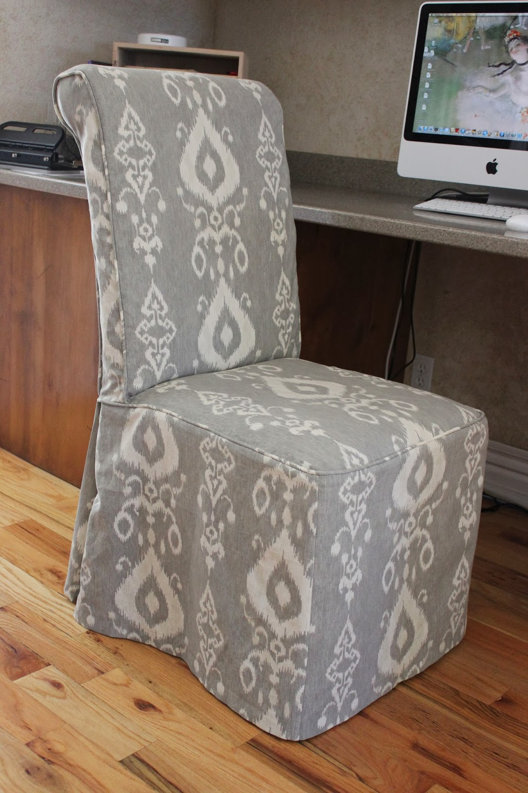 white parsons chair slipcovers  OZ Visuals Design  To