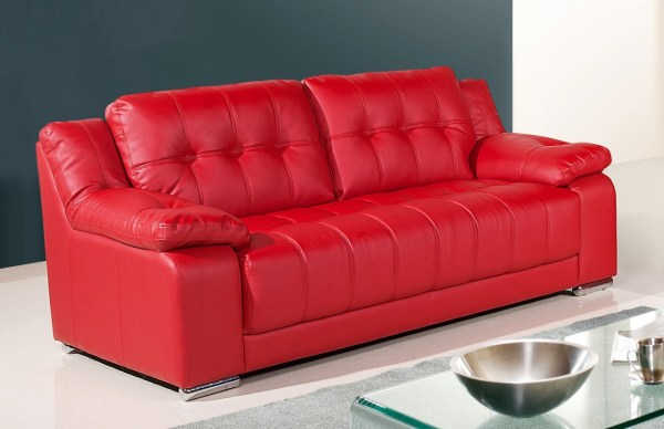 Inspirations Red Leather Sectional Sofas With Ottoman - Year of ...
