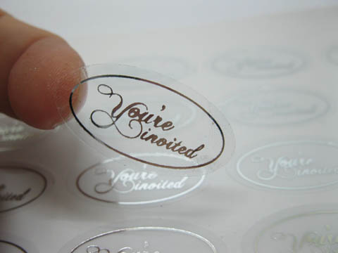 500x Silver You Re Invited Envelope Sticker Seals Wedding Invita