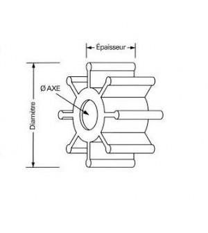 turbine pour suzuki 100 à 225 cv 2 et 4 temps