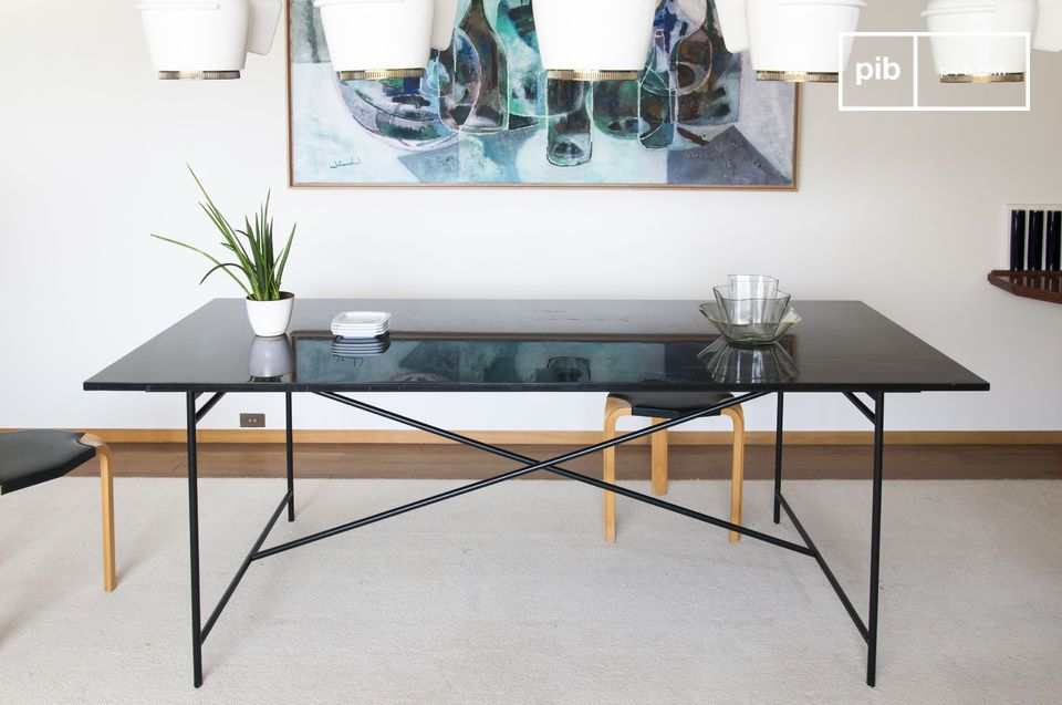 Mesa de mrmol negro Thorning   pib