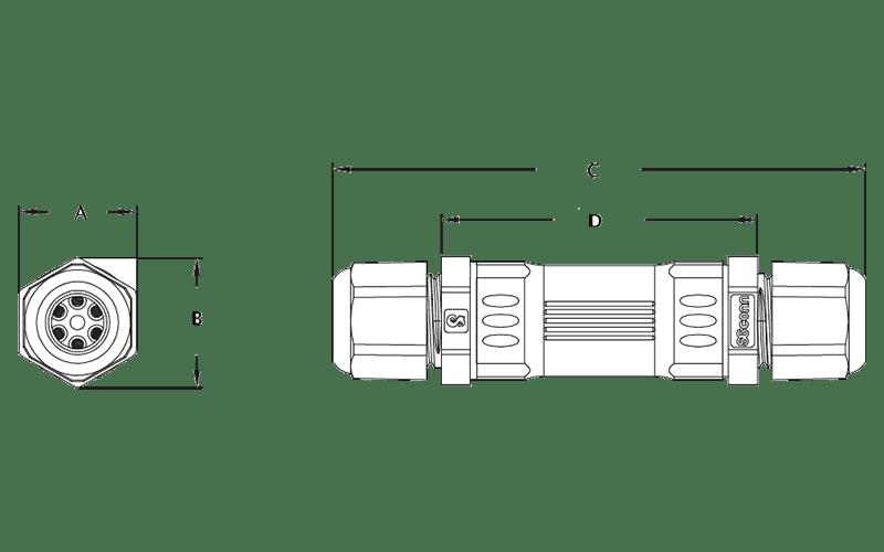 Gemeco 10 Conductor In-Line Splice