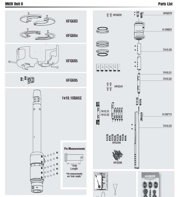 Harken Mk IV Unit 0 Furler Parts