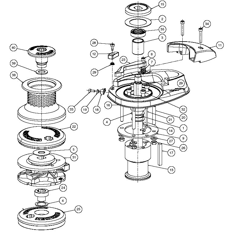 Lewmar V2/V3 Windlass Parts