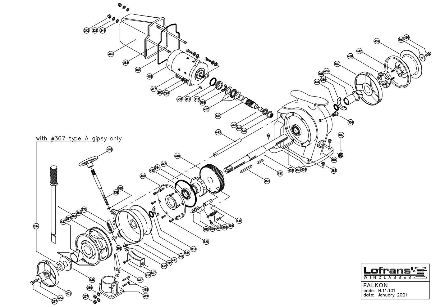 Lofrans Royal Horizontal Manual Windlass