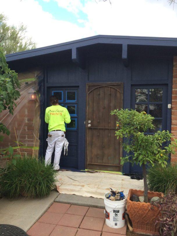 Entryway of the Abraham Home, Philabaum Professional Painting, Tucson, AZ