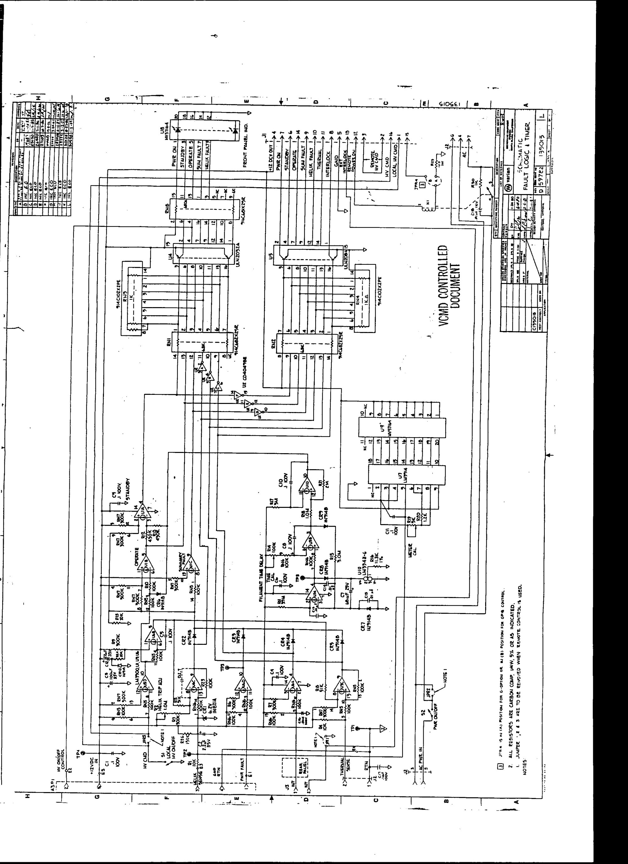 hight resolution of schematic for fault logic section
