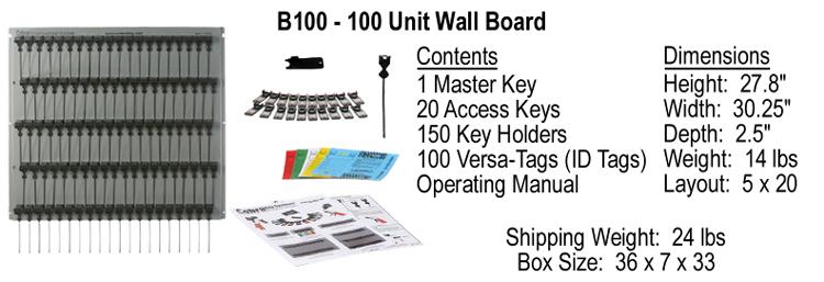 Cobra Key System 100 Unit Wall Board