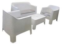 Plastic Sofa Chair (White) | Paaopaa