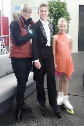 Anne Marie Wolf & Kieren Wagner (Nachwuchs, SAS) mit Trainerin Susi Fichtelmann