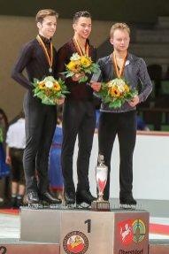 Sieger Herren, 1. Hendrickx(BEL), 2.Johnson (USA), 3. Majorov (SWE)